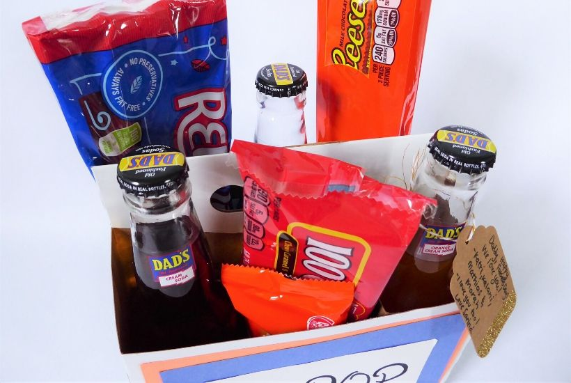 Creative Father's Day Snack Box