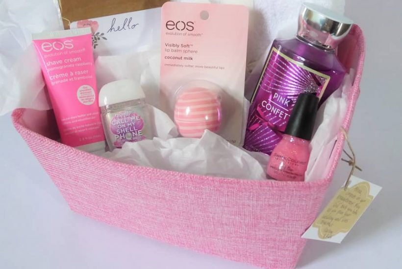 Pink Themed Bridal Gift Basket