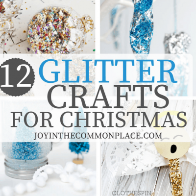 12 Glittery Crafts for Christmas