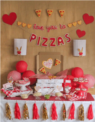 """Love You to Pizzas"" Valentine's Day Pizza Party"