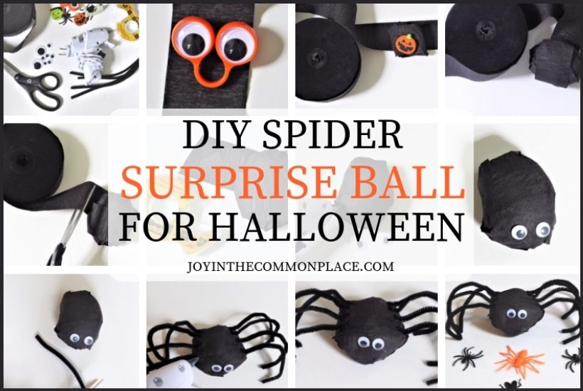 DIY Spider Surprise Ball For a Halloween Party