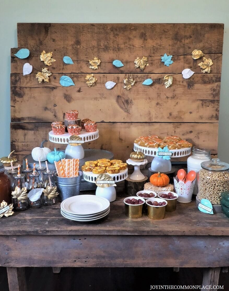 Host a Rustic Fall Breakfast Bar in Your Home