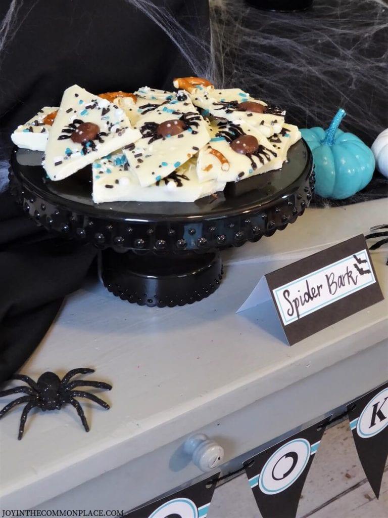 Halloween Spider Bark
