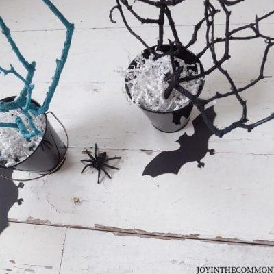 DIY Spooky Halloween Tree Branches