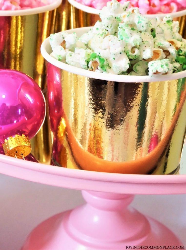 Grinch Inspired Popcorn