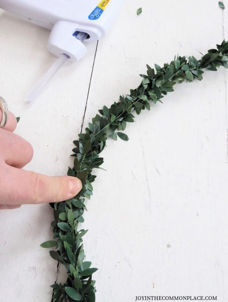 DIY Floral Wreath Backdrop