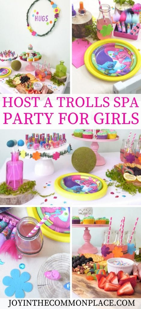 Host a Trolls Spa Party for Girls