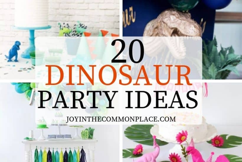 20 Prehistoric Dinosaur Party Ideas