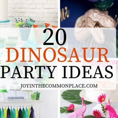 20 Prehistoric Dinosaur Party Ideas