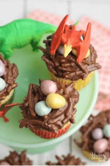 Dinosaur Egg Cupcakes