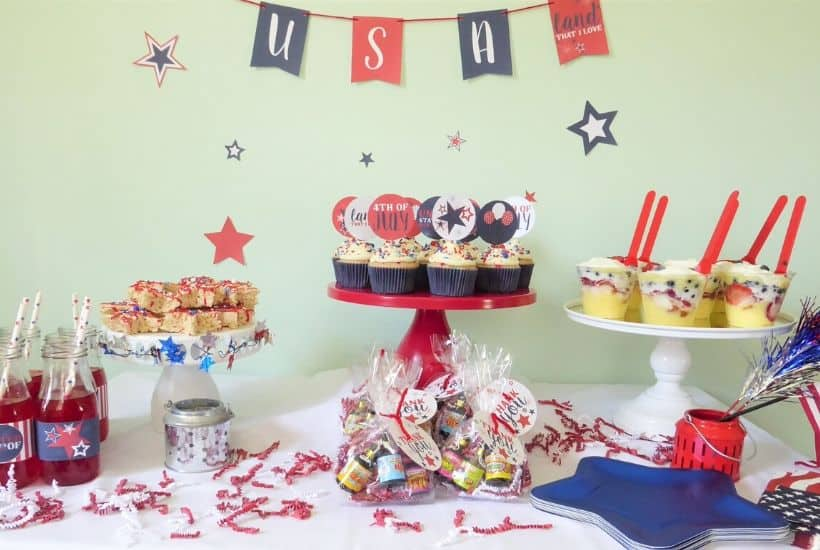 4th of July Dessert Table Feature