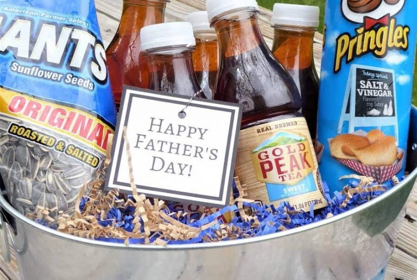 Easy Father's Day Gift Basket + Free Printable Tag