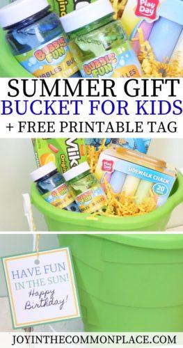 Summer Gift Bucket for Kids