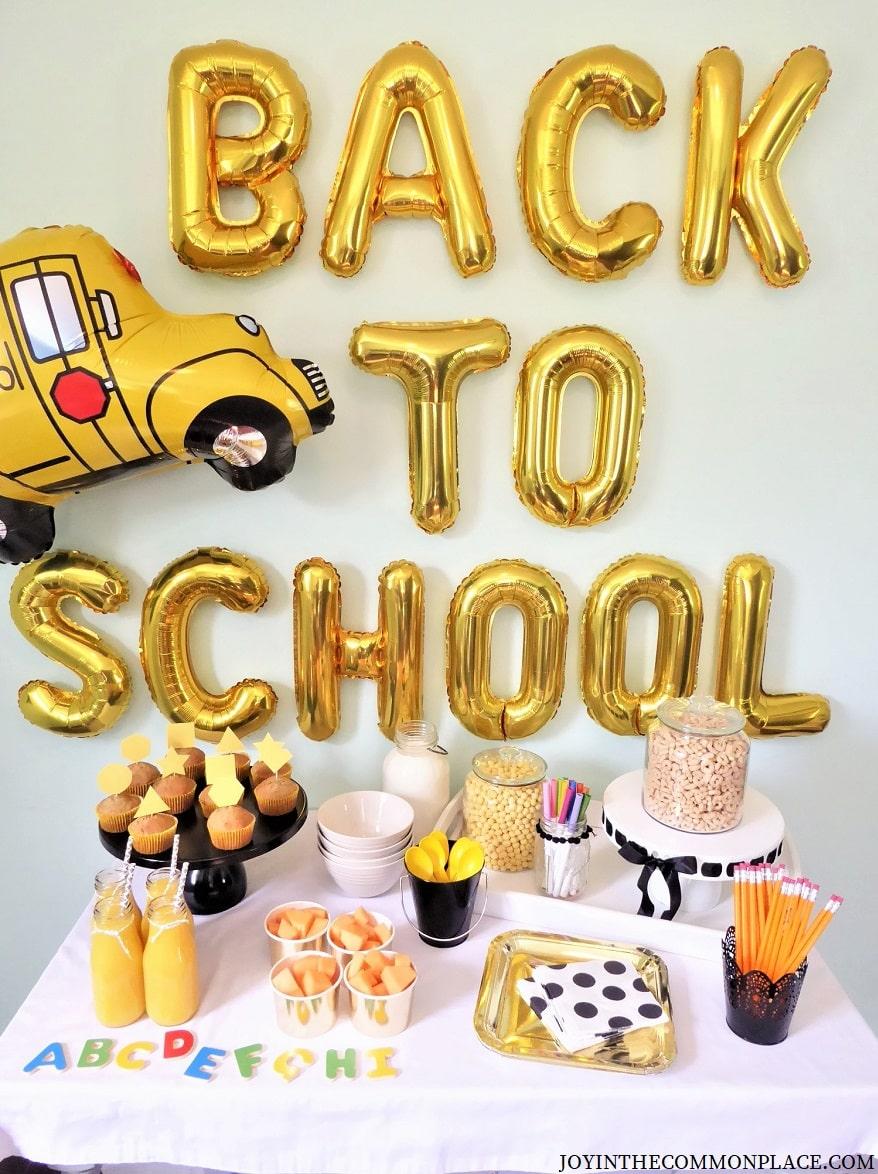 Back to School Breakfast Party