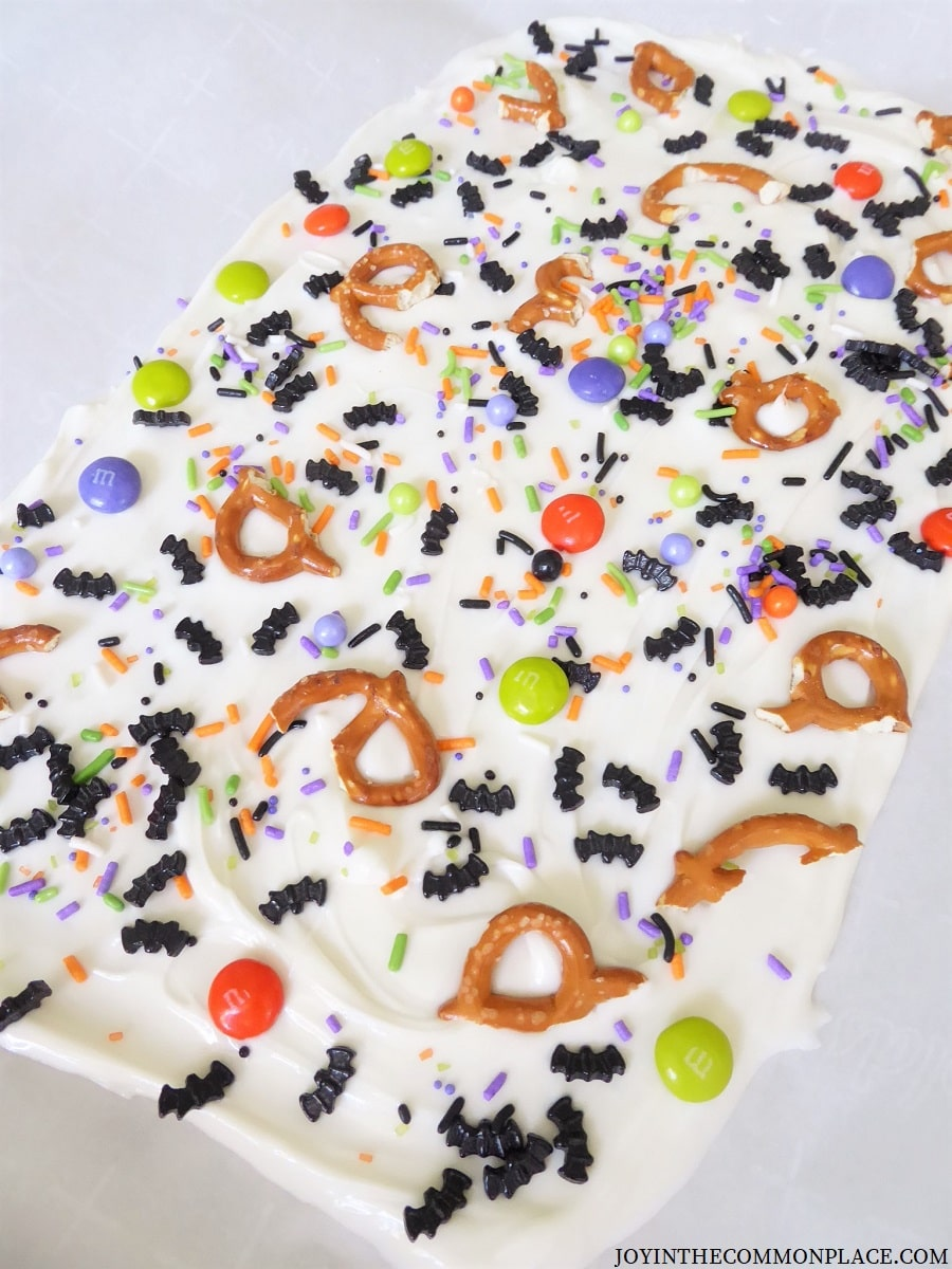 Bat-tacular Halloween Chocolate Bark Recipe