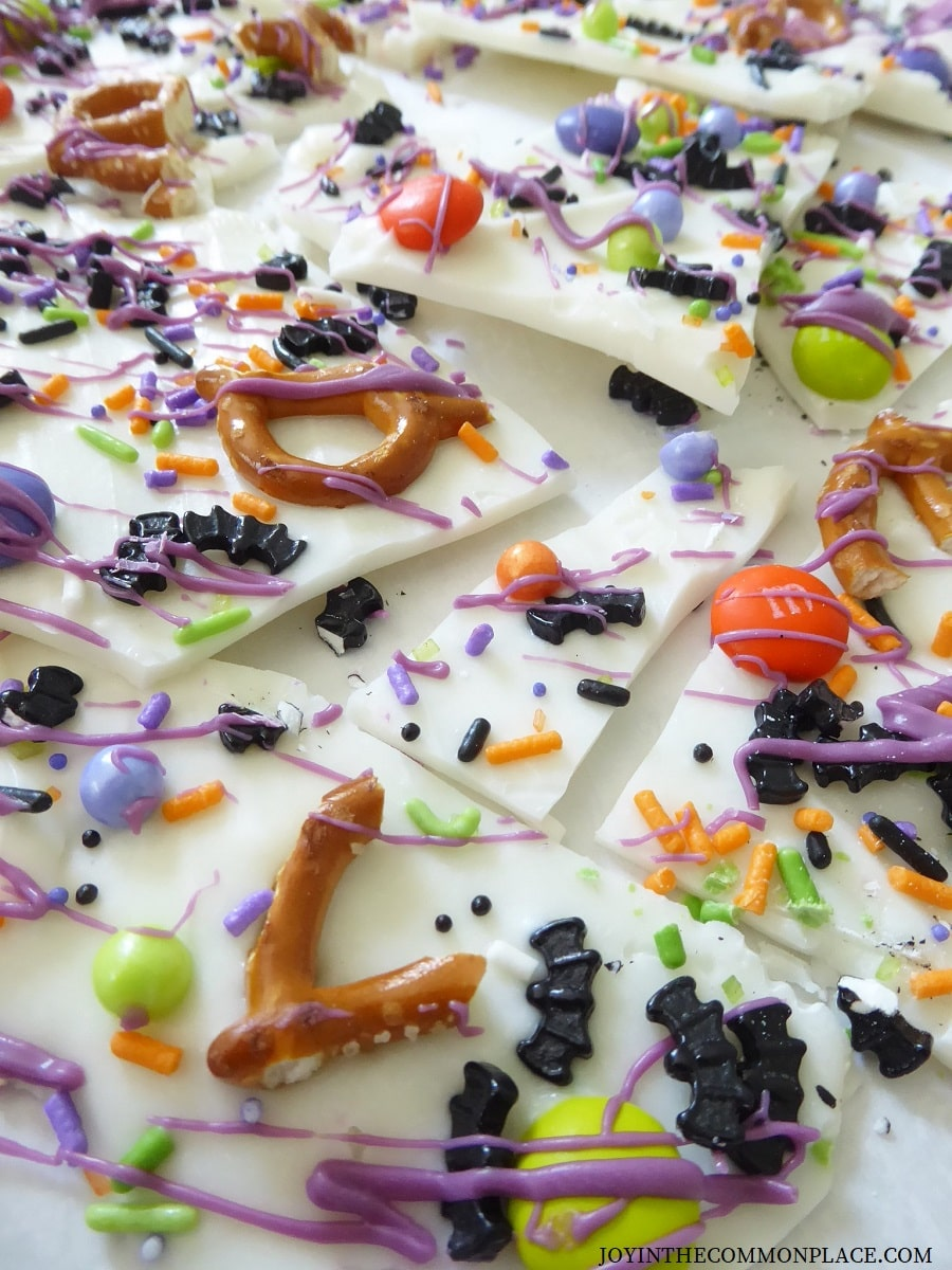 Bat-tacular Halloween Chocolate Bark