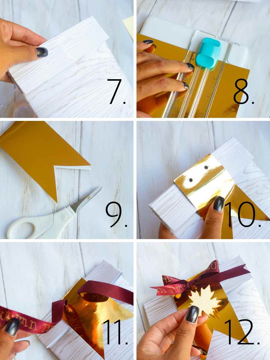 DIY Fall Party Favor Bag steps 7-12
