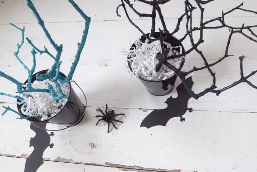 DIY Halloween Tree Branches Feature