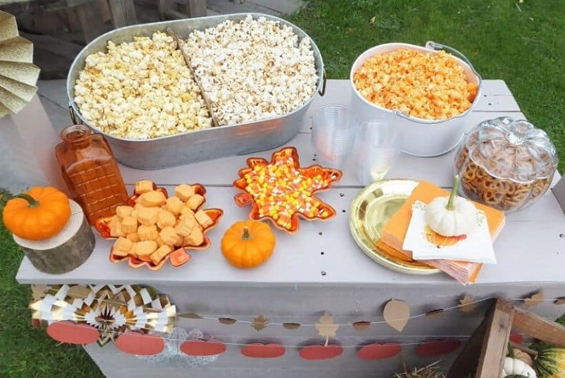 Harvest Party and Popcorn Bar Feature