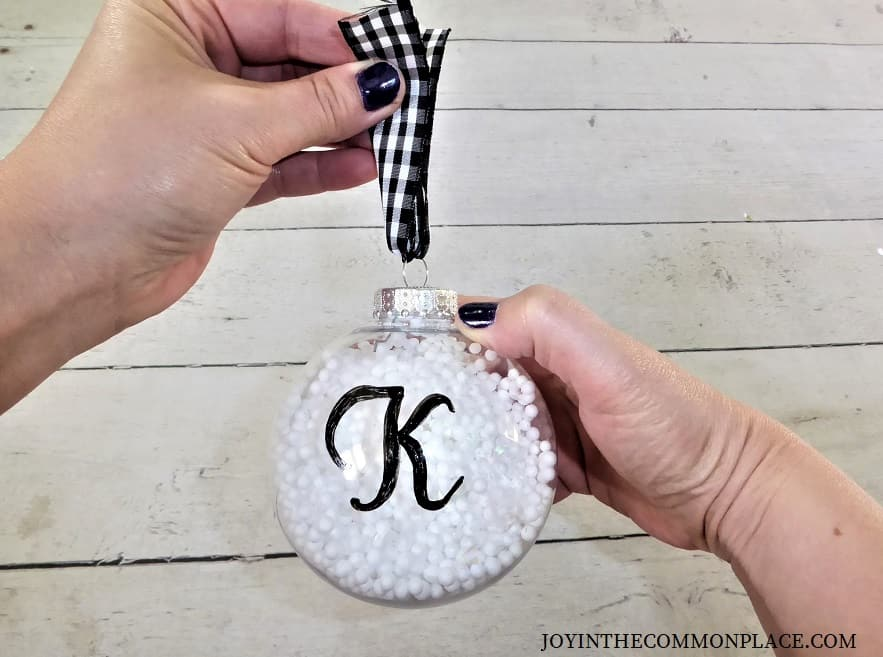 DIY Snowball Christmas Ornament