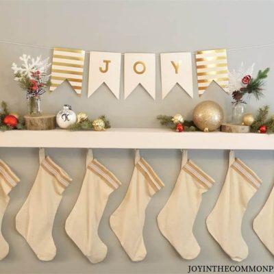 DIY Christmas Shelf Decorations