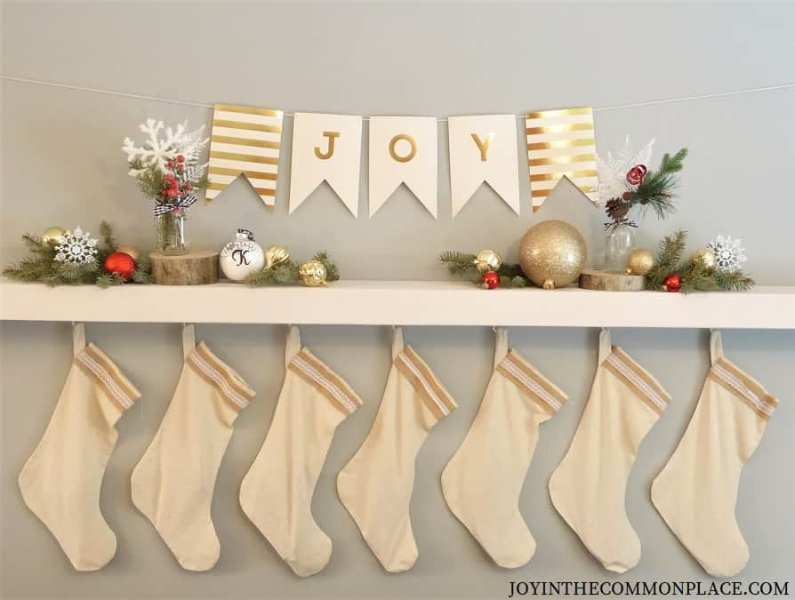 DIY Christmas Shelf Decorations
