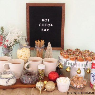 DIY Christmas Hot Cocoa Bar