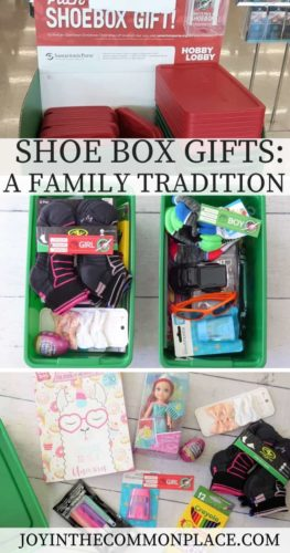 Our New Family Tradition: Shoe Box Gifts