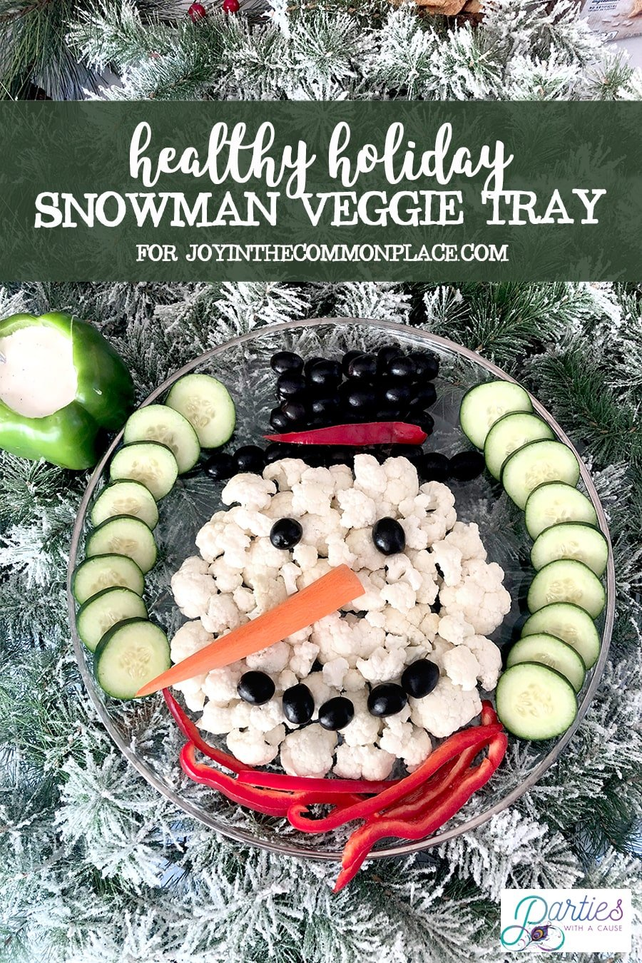 Snowman Veggie Tray by Parties With A Cause