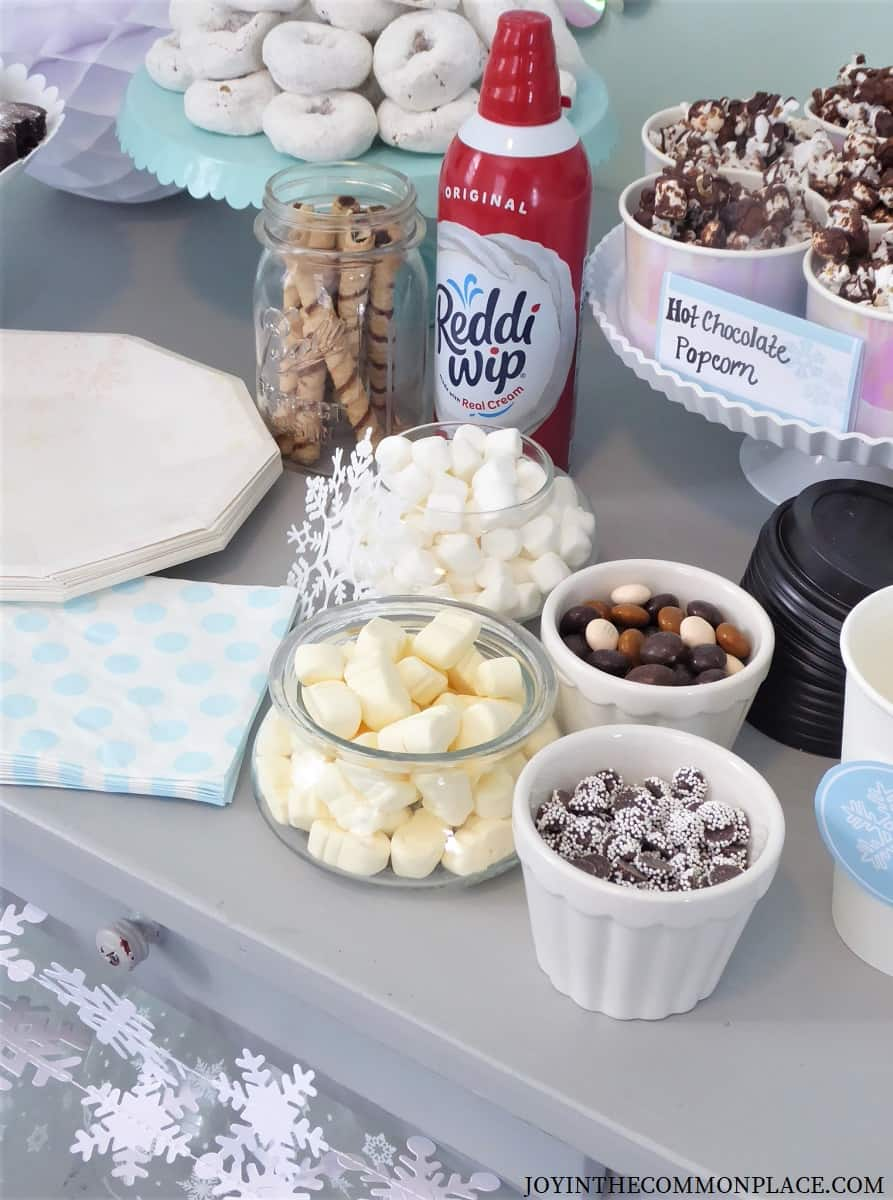 Winter Themed Hot Chocolate Bar and Ice Skating Party!