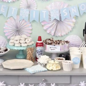 Winter Themed Hot Chocolate Bar Feature