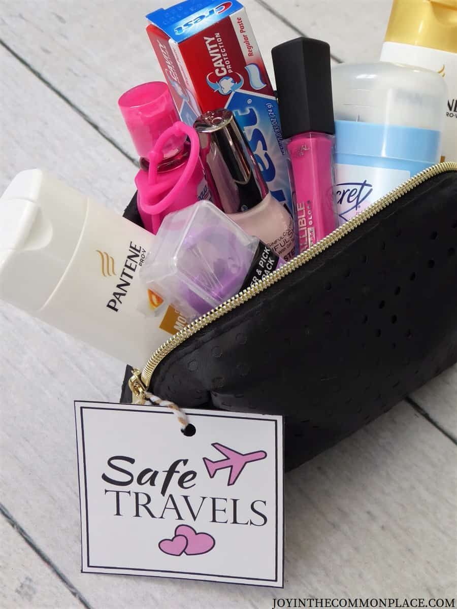DIY Travel Gift Kit for Women and Free Printable Tag