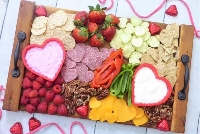 Valentine's Day Charcuterie Board Feature