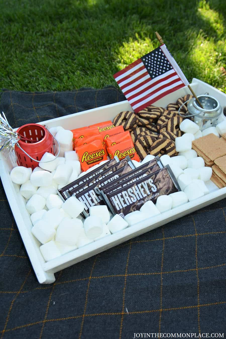 DIY Patriotic S'mores Tray