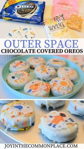 Outer Space Moon Chocolate Covered Oreos