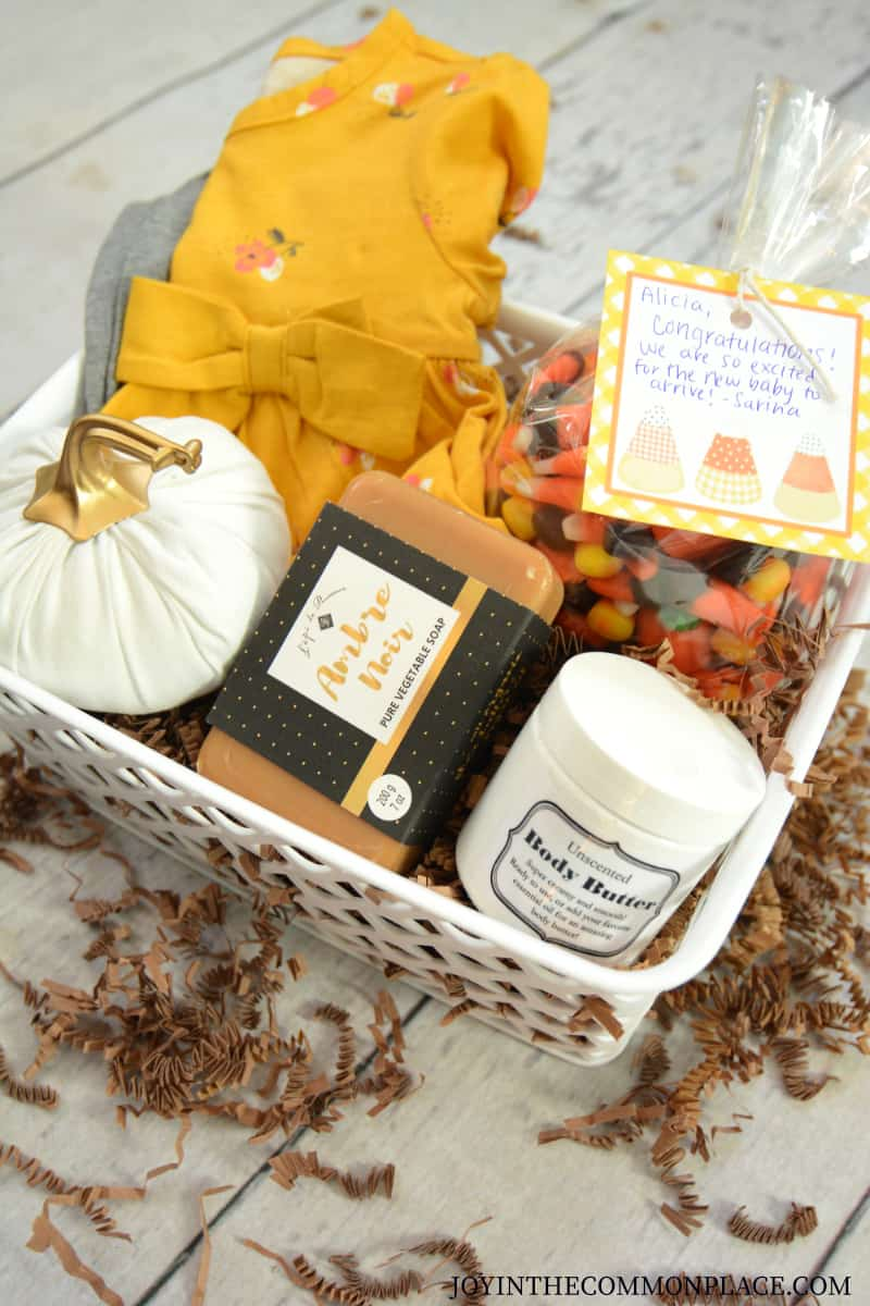 Fall Themed Baby Shower Gift Basket