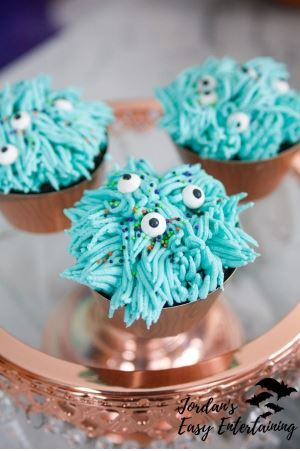 Halloween Silly Monster Cupcakes from Jordan's Easy Entertaining