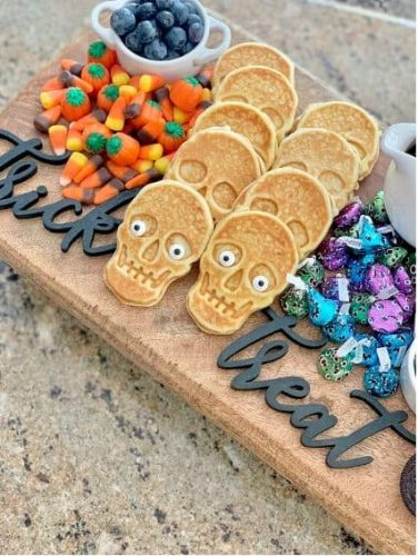 Halloween Waffle Dessert Board from Pop of Gold