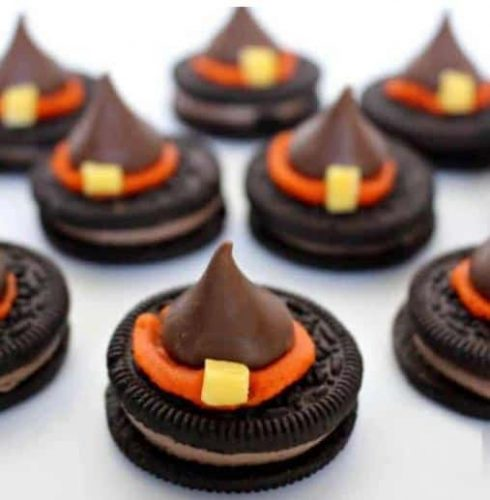 Halloween Witch Hat Cookies from Princess Pink Girl