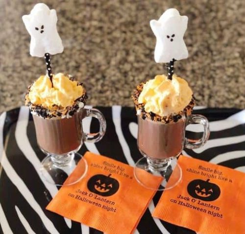 Spooky Hot Chocolate from Suburban Soiree