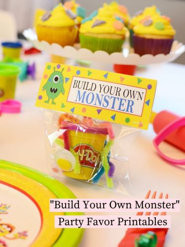 Build Your Own Monster Party Favor Printables