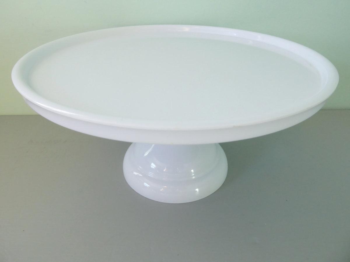 Large White Melamine Stand